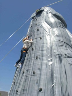 EXT - Rock Wall Inflatable 28' - 2 Climber+