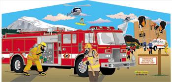 Banner - Firetruck #01