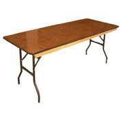 TTC - 8 Foot Banquet Table Wood