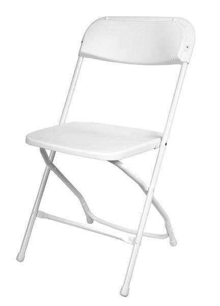 TTC - Folding Chairs White on White