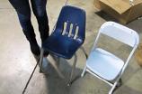 TTC - Kids Folding Chair White on White